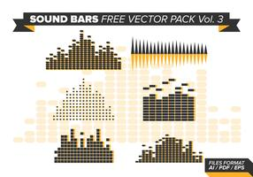 Sound Bars Free Vector Pack Vol. 3