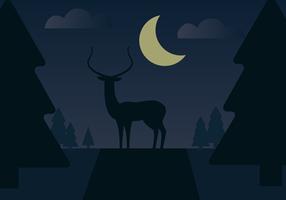 Free Deer Vector Landscape
