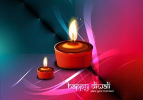 Lit Oil Lamps For Diwali Festival