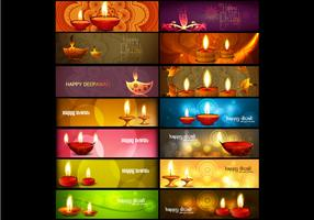 Set Of Header For Diwali