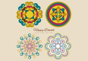 Collection Of Colorful Rangoli