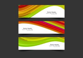 Headers With Colorful Waves