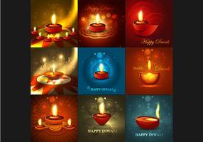 Colorful Designed Card For Diwali Festival