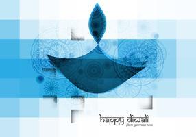 Blue Colored Diwali Oil Lamp