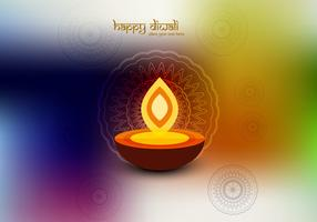 Oil Lamp On Colorful Background