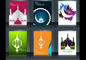 Set Of Eid Mubarak Brochure