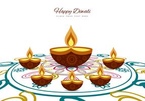 Greeting Card For Diwali Festival