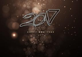 New Year 2016 On Brown Decorative Background