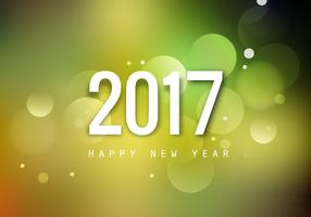 2017 Happy New Year Greeting Card