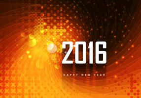 Decorative 2016 Happy New Year Card