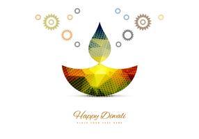 Stylish Colorful Diwali Diya