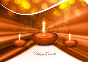 Stylish Greeting Card For Diwali Festival