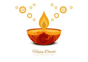 Deepawali Decorative Greeting Card