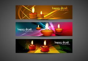 Set Of Happy Diwali Card
