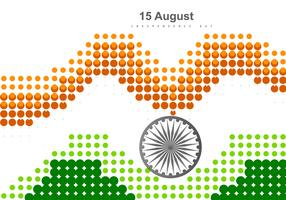 Dotted Tri Color Indian Flag