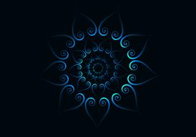 Abstract Blue Concentric Pattern