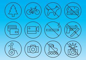 Informations- und Verbotszeichen-Vektoren