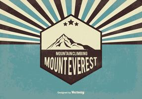 Retro Everest Vector Illustration
