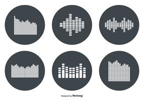 Sound Bar Vector Icon Set