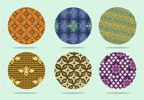 Coloroful Batik Background  Vector