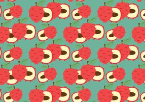 Free Lychee Vector Pattern #2