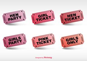 Hen Party Ticket Vector