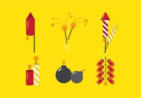 Vector Fire Crackers