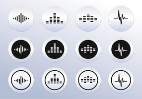 Free Vector Sound wave icons