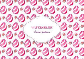 Free Vector Floral Pattern With Easter Egg