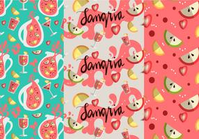 Sangria Pattern Vector Set