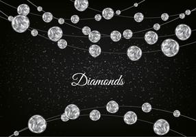 Free Vector Diamond Sparkling Background