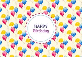 Free Vector Pattern With Balloons