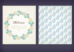 Floral Watercolor Free Vector Cards