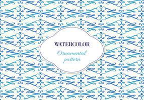 Free Vector Watercolor Ornamental Pattern