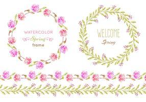 Free Vector Floral Patter Frames