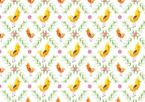 Free Vector Pattern With Birds