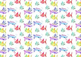 Free Summer Watercolor Vector Pattern