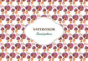 Free Forest Watercolor Vector Pattern