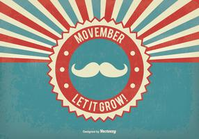 Retro Movember Vector Illustration