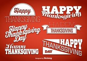 Thanksgiving Greeting Sign Vectors