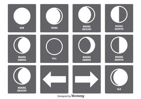 Moon Phase Icon Set