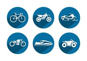 Sport Vehicle Vector Icons