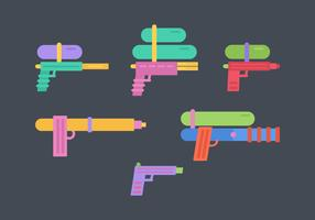Free Water Guns Vector Pack