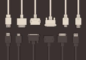 HDMI and USB Vector Set