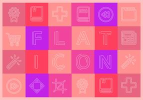 Kostenlose Flat Icons Vector Collection