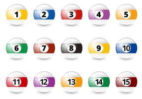 Free Billiard Balls Vector
