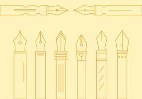 Free Pen Nib Vector #1