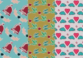 Set of Christmas Pattern Illustration