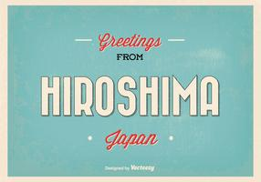 Retro Hiroshima Japan Greeting Illustration