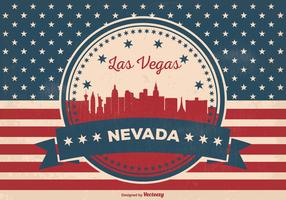 Retro Las Vegas Skyline Illustration